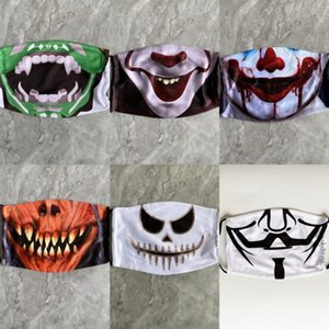 Suministros STFM6 realista de la mascarada horrible con dientes de llama payaso máscara Disfraces Cosplay Party Props de Todos los Santos Terrifying