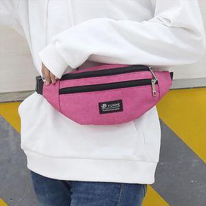 MoneRffi Fashion Women Men Casual Waist Bag Unisex Waistbag Chest Belt Bag Mobile Phone Zipper Pouch Packs Sports bag