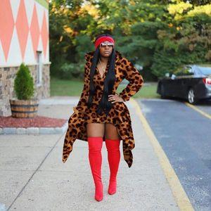 Womens Designer Sweats à capuche capuche imprimé léopard pour femmes Sweat Mode Irrégulier Vêtements pour femmes