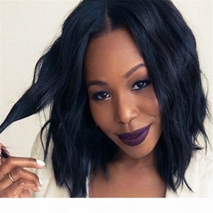 Natural wave Brazilian hair lace front wigs short bob human hair full lace human hair wigs for black women