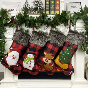 Stockings Christmas Tree Pendant Festival Party Xmas Tree suspension Decor Ornaments Decor plush Xmas Socks Gift Candy Bags A2165