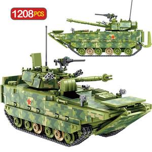 Ciudad para el tanque Technic Niños Juguetes Ww2 militares Building Blocks lucha Ladrillos Niños vehículo anfibio de infantería 1208pcs bAbzw E2008