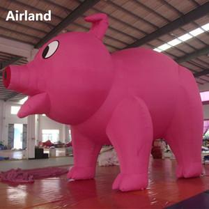 نفخ لطيف الحيوان صورة مخصصة طبق الاصل العملاقة الخنزير الوردي شخصية مع منفاخ نفخ خنزير الكرتون نموذج الديكور في الهواء الطلق