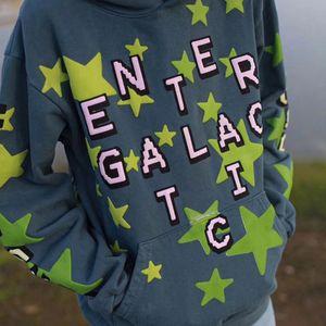 Loose Kid Cudi Murakami Takashi Galactic Of Star Green HoodyTops Sweatshirt Fear Genter Foam Print Luminous God Hoodies CPFM.XYZ Men's Dxiv