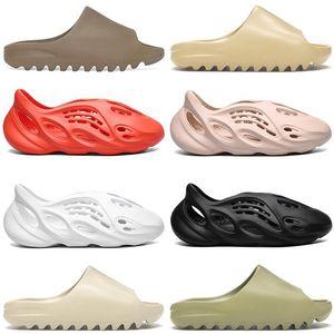 2020 Kanye Slipper Men Women Slide Bone Earth Brown Desert Sand Slide Resin Shoes Sandals Runner Size 36 -45