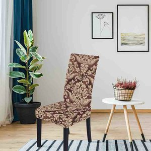 Chair Cover online Elegant style 3D Digital Print slipcover decorative pattern Polyester Fabric Chair Covers for Dining Room