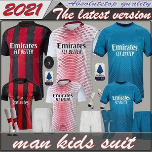 для взрослых мальчиков AC 2020 2021 милана Ибрагимович трикотажные изделия футбола Набор 20 21 Piatek Paquetá ТЕО Ребич футбольные рубашки мужские детские комплекты униформы