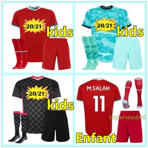 liverpool Kinder Fußball Trikot 20 21 Salah MANE Firmino Fußball Trikots 2020 2021 Kinder LVP neue 20 21 soccer jersey kids kit shirt