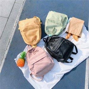 Frauen Sommer Mode reine Farbe des PU-Leder Rucksack Einfach Campus Studentenschultasche im Freien Spielraum wasserdichter Rucksack-