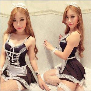 kKpM5 jauXq Сексуальное белье сексуальная форма сетки костюм KTV горничной искушение ткань сетка спинки белье КТВ служанка ролевые игры
