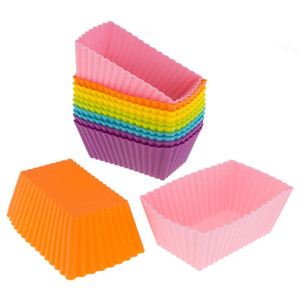12PC Kitchen Craft Cake Cup Chocolate Liners Baking Cupcake Cases Muffin Muffin Cake Rectangle DIY Wholesale Molde do bolo