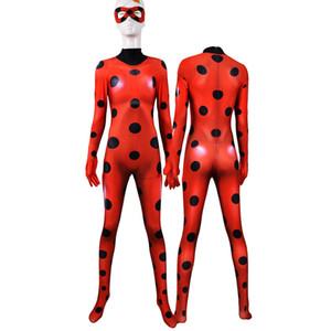 Mariquita de Halloween traje de superhéroe señora Bug Zentai Cosplay muchachos del juego para niños adultos niñas femenina de las mujeres del mono