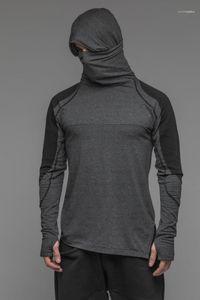 Hoodie Mens Sports Fitness Hoodies Solid Hooded Designer Running Long Sleeved