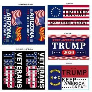 Novos 32 Styles personalizado Bandeira Trump 90 * 150 centímetros Trump 2020 Keep America Flag Great American eleição presidencial Banners transporte marítimo DDA580
