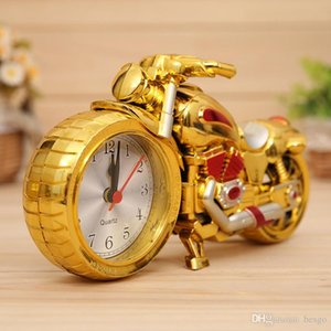 Motorcycle Alarm Clocks Home Decoration Alarm Clock Super Cool Motorcycle Model Alarm Clocks Holiday Creative Retro Gift Decor DBC DH0730-2