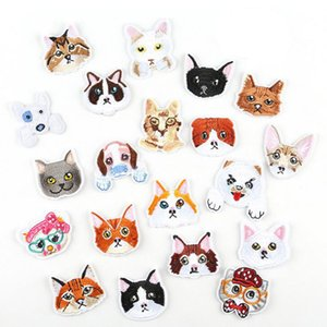Cartoon Cats&Dogs Mend Embroidery Patches Sew Iron On Applique Patch Badge DIY Apparel Badges For Clothes Jeans Jacket Bag