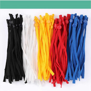 10cm 12cm DIY Mask Sewing Elastic Band Cord with Adjustable Buckle Stretchy Mask Earloop Lanyard Earmuff Rope Making Supplies DDA586