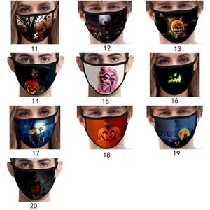 Halloween de encargo mascarilla de algodón máscaras decoraciones mascarilla Masque de dibujos animados para adultos mascherina reutilizable lavable máscara del envío libre de DHL