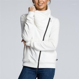 Casual Outerwear with Zipper Autumn Women Designer Solid Jackets Fashion Women Panelled Coats