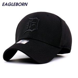 2020 спандекс Эластичные Встроенные Шляпы Солнцезащитный Detroit Baseball Cap Мужчины Женщины Регулируемые Caps Casquette Gorras Bone Reta Оптовая LJ200916