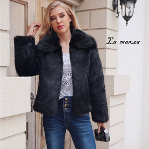Womens Coats Winter Faux Fur Coat Warm Clothes 2020 Casual Fashion Faux Fur Jacket Plus Size