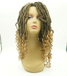 Aohai dois tons fibra NEW-LOCK trançada peruca dianteira do laço japonês 20 polegadas de substituição de cabelo longo sintético preço de atacado