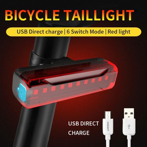 Rainproof LED Road Bike Rechargeable Safety USB Taillights Bicycle Light Rear Light Warning Lamp High Quality Mz2h#
