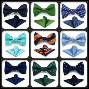 Бантики Различные Многоцветные Бабочки Мужская Боути Мода Отритетете Саморегулируйте карманный квадрат набор свадьбы с мужчинами