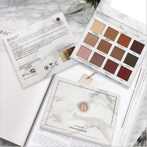 12 Color Eyeshadow Palette Marble Color Makeup Eye Shadow Disc Pearl Waterproof Is Not Blooming Make up For Beauty Cosmetic