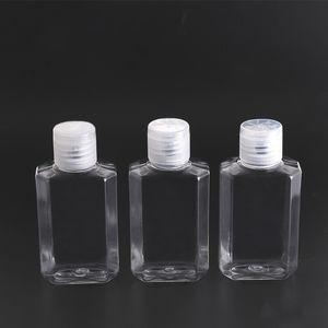 60 мл пустой ручной дезинфицирующий гель для бутылки ручной мыло жидкая бутылка прозрачный сжатый Pet Sub Travel Bottle GWF1815