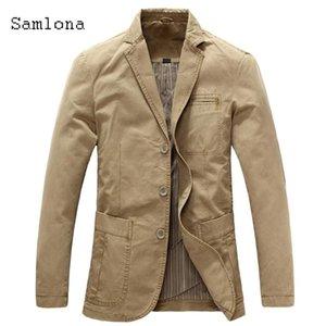 Cashiona 2020 Erkekler Blazers Avrupa ve Amerikan Tarzı Blazer Sonbahar İnce Casual Ceket Streetwear Sosyal Coats Ropa Hombre