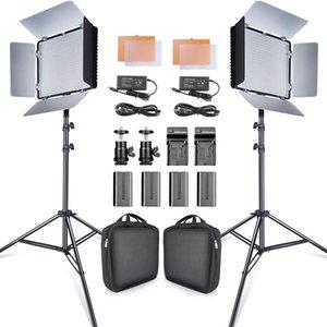Travor 2SET 600PCS 스튜디오 카메라 사진 조명 3200K / 5500K CRI93 함께 비디오 조명 키트를 주도 2m 삼각대와 NP-F550 배터리는 LJ200910을 유튜브