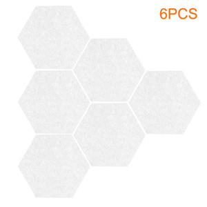 6pcs Duvar Etiketler Öz Altıgen Mantar Pano Fonksiyonlu Notlar Görüntü