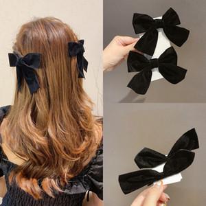 quot El yapımı Fırıldak saç tokaları Saç Aksesuarları bowknot için MLsf1 Paketi GirlsSolid Grogren Şerit Yaylar Klip