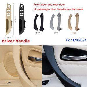 Gray Beige Black left Right Car Interior Handle Inner Door Armrest Panel Pull Trim Cover For BMW 3 series E90 E91 328 330 335