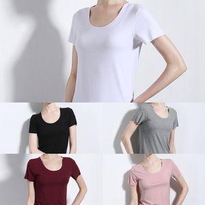 camicia sottile di base D014 delle donne T-shirt 9Ikv3 Aweizi 2020 le donne del nuovo coreano T senza soluzione di continuità mutande STYLE- mutande a maniche corte BavFr
