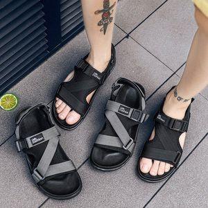 Man Beach Sandals 2019 Summer Gladiator Mens Outdoor Shoes Roman Men Casual Shoe Flip Flops Fashion Slippers Flat Plus Size 46 bQzF#