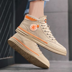 Summer classic 2020 hot Korean youth trend men's shoes casual canvas high-top sneakers breathable cloth shoes student trendy shoes yut