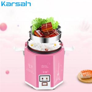 200W Mini Rice Cooker Portable électrique Rice Cooker 1,2 L Cuisson machine à vapeur multifonction rapide Marmite