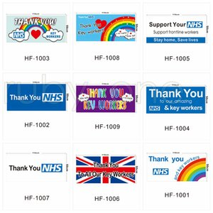 Royaume-Uni Accueil Drapeaux mur Bannière Thank You NHS Drapeau Royaume-Uni arc-en-Printed Drapeaux 50 * 110cm par kingroom RRA3547