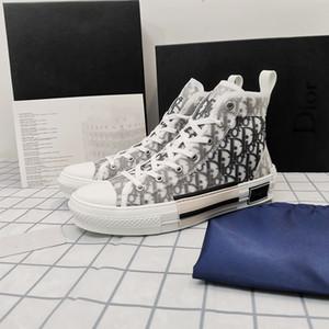 Dior B23 shoes Mit Box 2020 Nueva Gao explosión Blumen Technische Segeltuchschuhe top del alto-oblicua Freizeitschuhe 3M para hombre-Frauen-Luxus-Designer-Schuhe 36-44