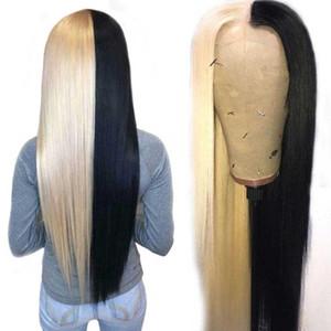 مستقيم 613 الجبهة الرباط الباروكة هد شفاف الرباط أمامي لمة 180 الكثافة الجبهة شعر الإنسان الباروكات T الجزء ريمي البرازيلي