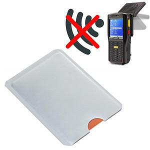 حامل محفظة RFID حظر الأكمام الألومنيوم احباط مكافحة سرقة مكافحة المسح الضوئي بطاقات معرف بطاقة nfc حامي غطاء القضية