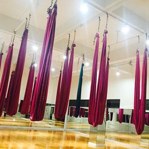 4*2.8M yoga hammock Solid color home exercise equipme anti gravity yoga swing aerial inversion Air swing 23 Colors