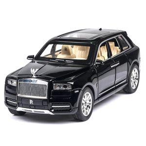 01.24 Rolls Royce Cullinan Legierung Large Size Simulation SUV Metallmodell Licht-Ton-Pull Back Skala miniatur Auto T200110