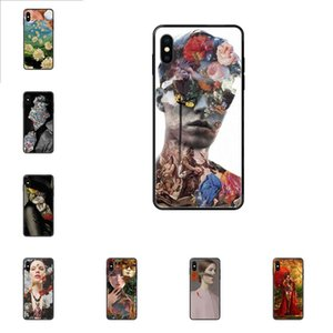 Для Apple iPhone 11 12 Pro X XR XS MAX 5 5S 5C SE 6 6S 7 8 Plus Digital Art Flowers TPU Art Online Cover Case