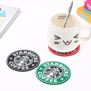PVC Altlıkları Kupası termo Yastık Tutucu Starbucks deniz hizmetçi kahve Altlıkları Kupası MatNon atımlı seramik su bardağı kupa süt treni ücretsiz gönderim