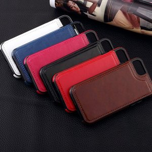 Retro PU Leather Case For iPhone X 11 8 Plus XS Multi Card Holder Phone Cases For iPhone XS XR 11 Pro Max