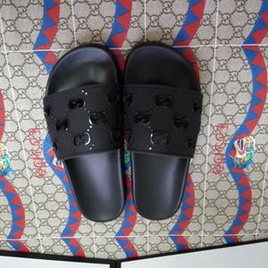 di vendita di grandi dimensioni cuoio genuino degli uomini donne di modo pantofole luxurys signore designer sandali di alta qualità pantofole di diapositive di marca No Box