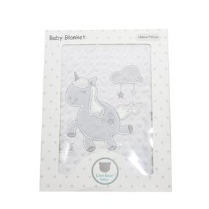 Soft baby blankets newborn 100% flannel warm 2 layers animal pattern dot Swaddle wrap Baby Bedding Blankets